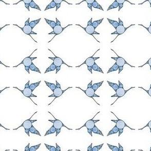 Blue Fractal Crane