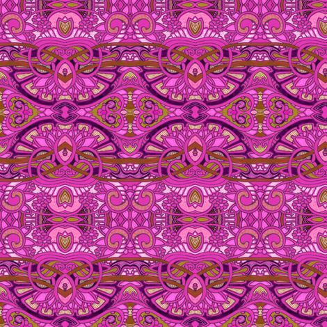 Egyptian Revival Romance in Raspberry fabric by edsel2084 on Spoonflower - custom fabric