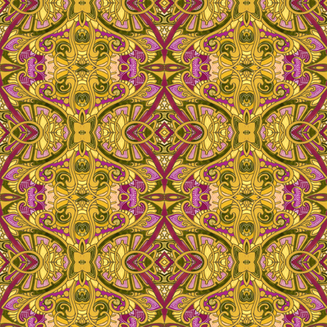 On Golden Frond fabric by edsel2084 on Spoonflower - custom fabric