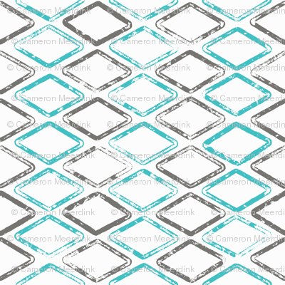 Diamonds are Forever - Gray, Turquoise