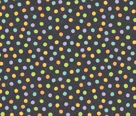 Catnap coordinate-dot fabric by jennartdesigns on Spoonflower - custom fabric