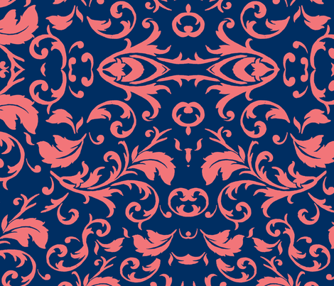 Coral feather fabric by mbrollins on Spoonflower - custom fabric