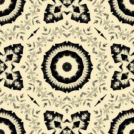 Black on Off White fabric by kickyc on Spoonflower - custom fabric