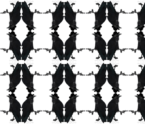 Dueling Ravens fabric by boneyfied on Spoonflower - custom fabric