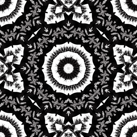 White_on_Black fabric by kickyc on Spoonflower - custom fabric