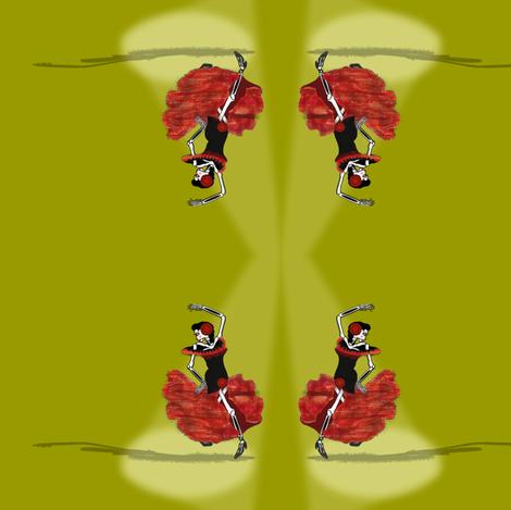 flamenco-repeat fabric by boneyfied on Spoonflower - custom fabric