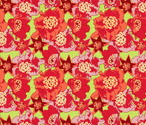 Just flowers fabric by cjldesigns on Spoonflower - custom fabric