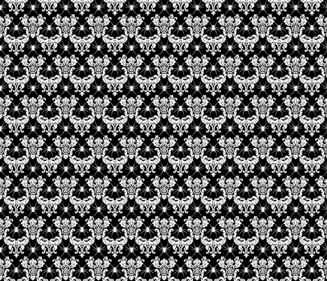 spider damask white on black fabric by starlings_law on Spoonflower - custom fabric