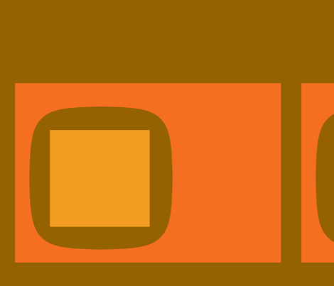 square peg | pumpkin fabric by design_habit on Spoonflower - custom fabric