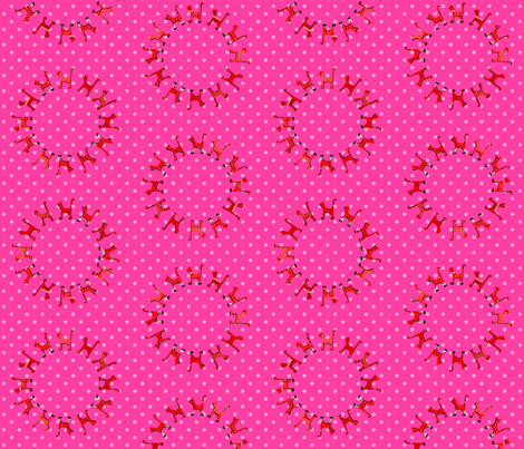 itty_bitty_kitty_circle_red fabric by kirstylovescardboard on Spoonflower - custom fabric