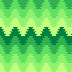 01829654 : jagged zigzag 5 green