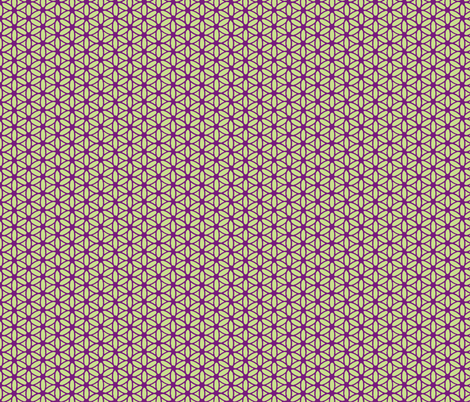 Flower of Life - Violet Lime fabric by leahvanlutz on Spoonflower - custom fabric