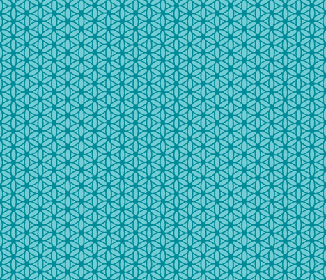 Flower of Life - Aqua fabric by leahvanlutz on Spoonflower - custom fabric