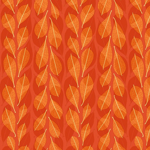 Leaf line overlays - red
