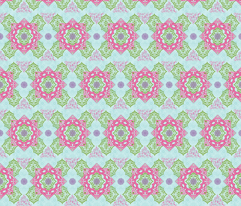 Arabesque -Fuschia fabric by leahvanlutz on Spoonflower - custom fabric