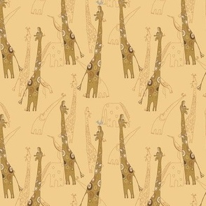 seamless pattern with giraffe