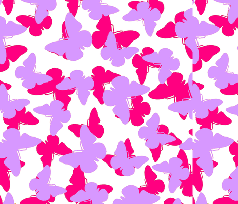 Layered Butterflies fabric by tomhaggerty on Spoonflower - custom fabric