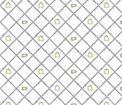 Reins in grey fabric by ragan on Spoonflower - custom fabric