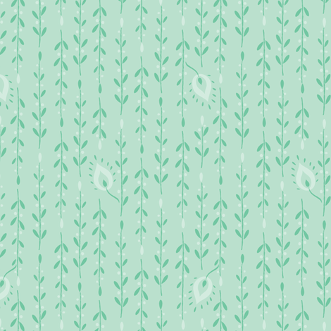 kashmir aqua fabric by kayajoy on Spoonflower - custom fabric