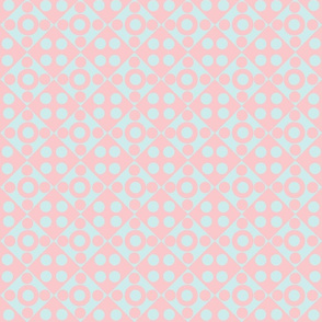 baby blue on pink