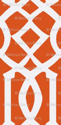 Imperial Trellis Dark Orange/White-Large