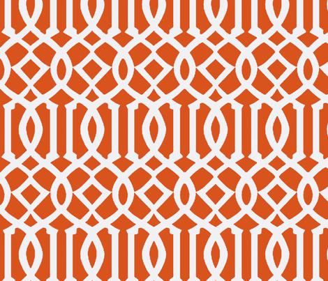 Imperial Trellis Dark Orange/White-Large fabric by mrsmberry on Spoonflower - custom fabric
