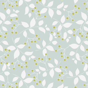 Sprig, Pale Blue + Leaf