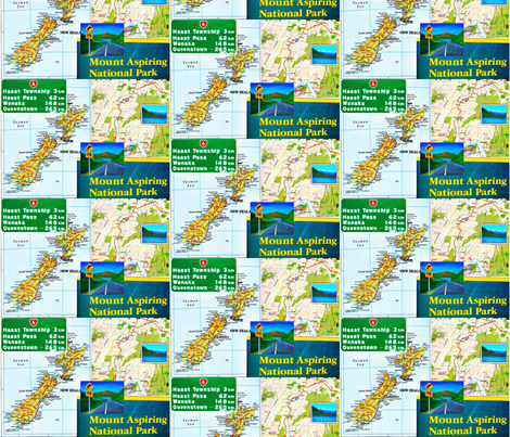 West Coast Road Signs fabric by toby_rose on Spoonflower - custom fabric
