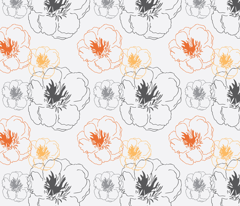 Peony Trace fabric by audreyclayton on Spoonflower - custom fabric