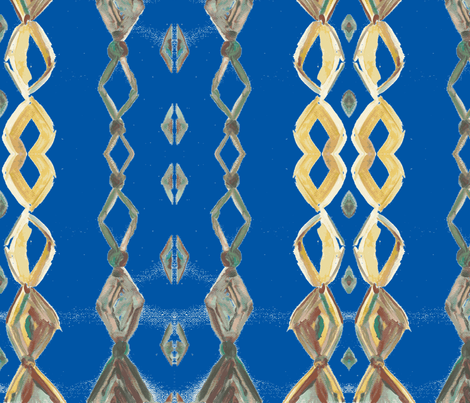 chain of jewels blue fabric by heanne on Spoonflower - custom fabric