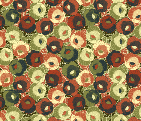 vintage floral 2 fabric by kociara on Spoonflower - custom fabric