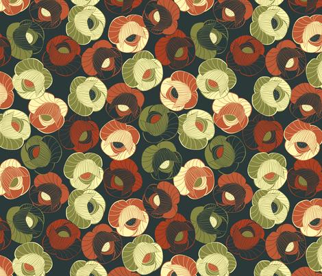 vintage floral fabric by kociara on Spoonflower - custom fabric