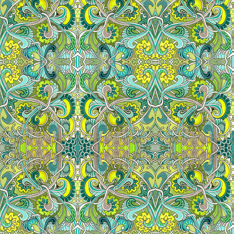 The Flowers That Bloom In the Spring Tra La fabric by edsel2084 on Spoonflower - custom fabric