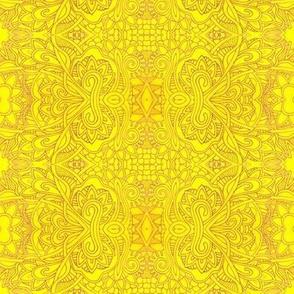 Subtle Sunshine (a freehand line drawn abstract in shades of yellow)