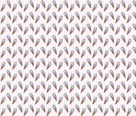 Mini Ice Cream Cats fabric by miss_ella on Spoonflower - custom fabric