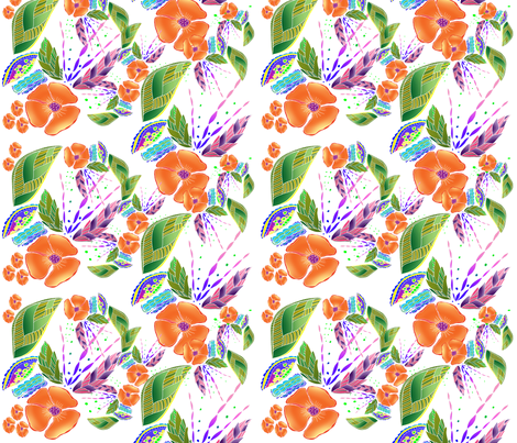 Summer in Paradise fabric by aftermyart on Spoonflower - custom fabric