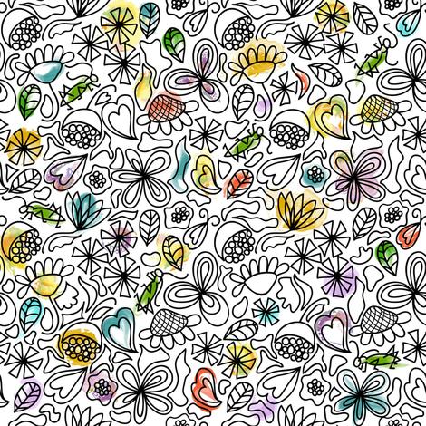 Chirp, chirp, chirp fabric by vo_aka_virginiao on Spoonflower - custom fabric