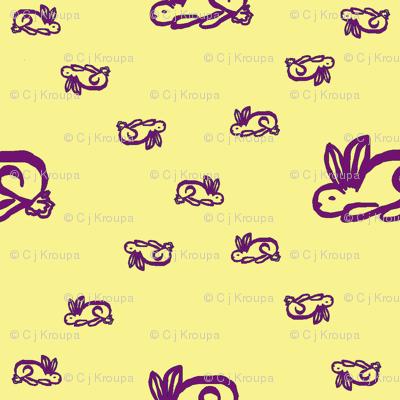 Bunnies (Yellow)