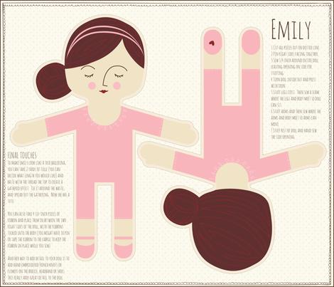 Emily_ballet fabric by stacyiesthsu on Spoonflower - custom fabric