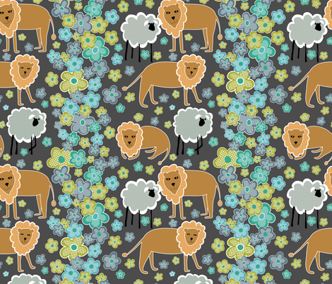 lejonlamm fabric by vo_aka_virginiao on Spoonflower - custom fabric