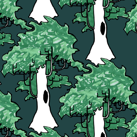 Forest for the Trees fabric by pond_ripple on Spoonflower - custom fabric