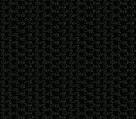 Chalkboard Line Dog fabric by luvinewe on Spoonflower - custom fabric