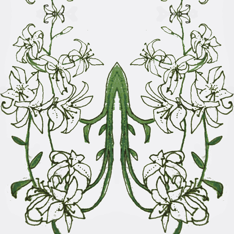 White Lilies fabric by boris_thumbkin on Spoonflower - custom fabric