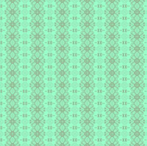 daisy chain mint fabric by kerryn on Spoonflower - custom fabric