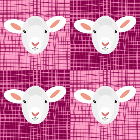 Pink Pop Lammy fabric by smuk on Spoonflower - custom fabric