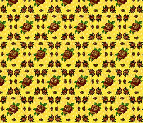 Cabbage Roses (Yellow) fabric by ravynscache on Spoonflower - custom fabric