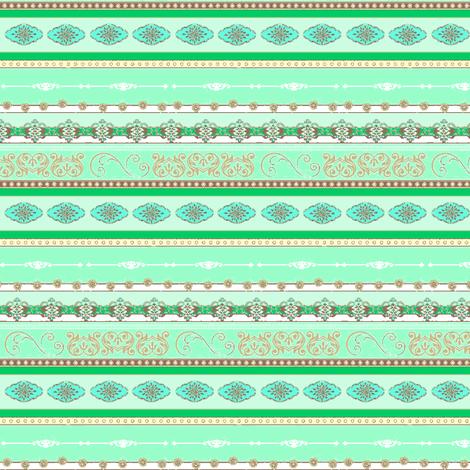 STRIPE-CHOC MINT fabric by kerryn on Spoonflower - custom fabric