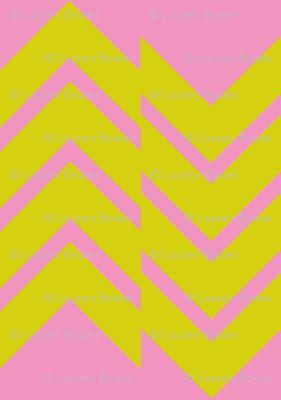 Abstract Chevron Pink/Citrus