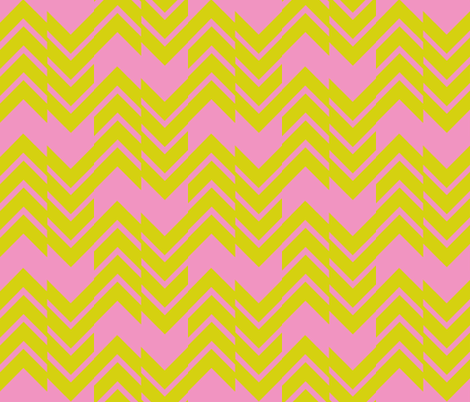 Abstract Chevron Pink/Citrus fabric by laurenskye on Spoonflower - custom fabric