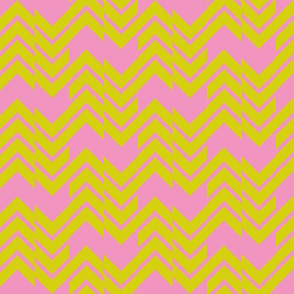 Abstract Chevron Pink/Citrus